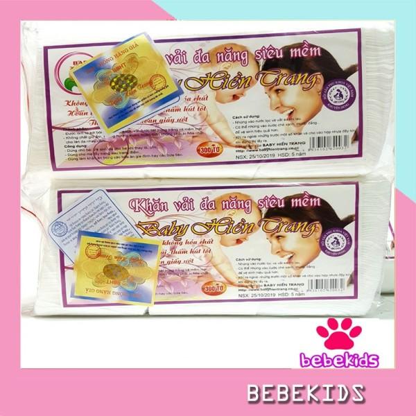 Khăn khô đa năng baby hiền trang (gói to 230gam) - Khăn vải khô loại đẹp - KV18 Bebekids gói 230gam