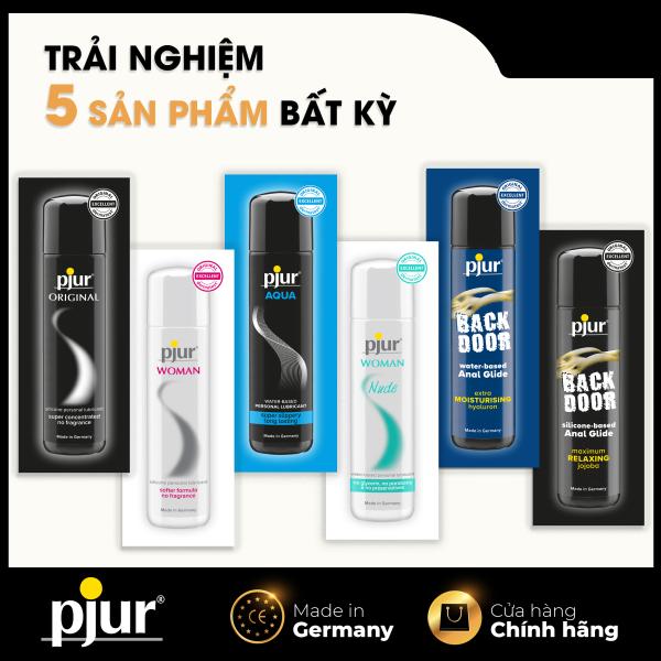 Combo dùng thử 5 sản phẩm pjur bất kỳ