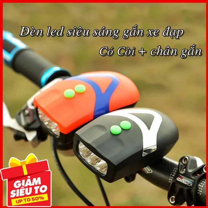 Giá Quá Tốt Để Có Đèn Xe đạp Có Còi đèn Pha Xe đạp đèn Pin Xe đạp đèn Led Xe đạp Cao Cấp 4 Chế độ Làm Việc Sáng Thường, Nhấp Nháy, Chiếu Xa, Chiếu Gần.