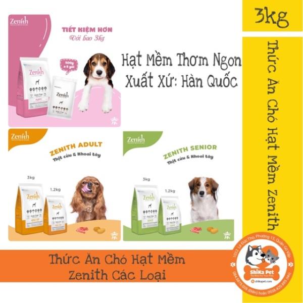 [Siêu Rẻ] Thức Ăn Chó Hạt Mềm Zenith Túi 3Kg Các Loại