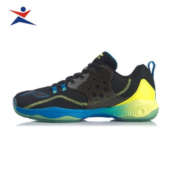 Giày cầu lông nam LI-NING AYTQ021, đế kếp da PU chống thấm nước-giày bóng chuyền Lining đế kếp-giày thể thao cao cấp giá rẻ