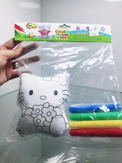 Bộ tô màu bong bóng động vật ngộ nghĩnh kèm bút màu, có thể giặt đi tô lại thumbnail