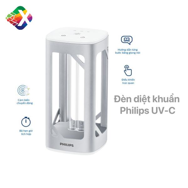 Đèn khử trùng Philips UV-C chính hãng diệt vi khuẩn, nấm mốc, virus - làm sạch không khí - an toàn, dễ sử dụng