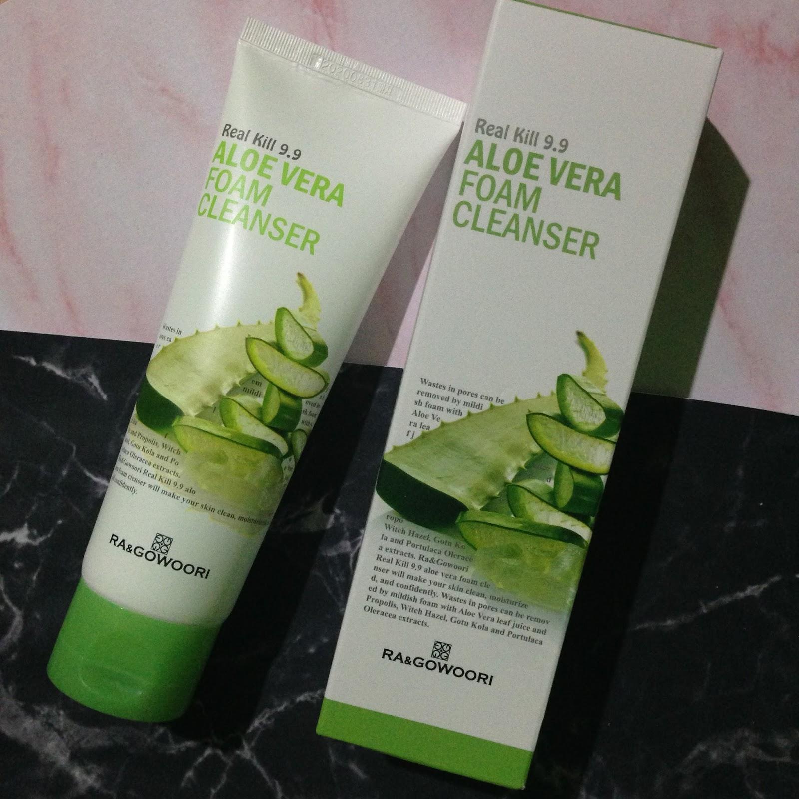 Sữa Rửa Mặt nha đam  Real Kill 9.9 Green Tea Foam Cleanser Hàn Quốc 120ml tốt nhất
