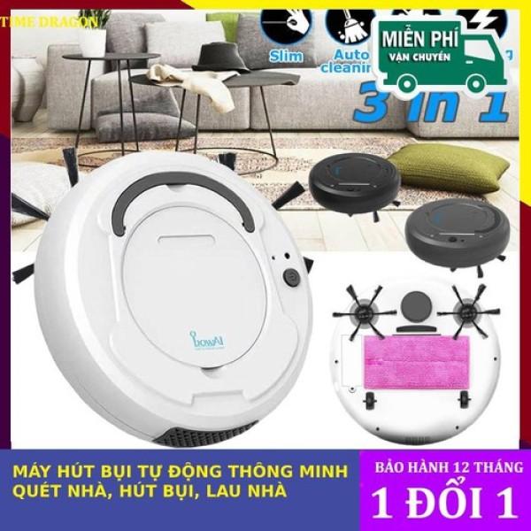 ( HÀNG CÓ SẲN ) Robot lau nhà hút bụi thông minh BOWAI tự động - robot hút bụi Bowai, robot lau nhà tốt, sạch- CHổi robot tự động