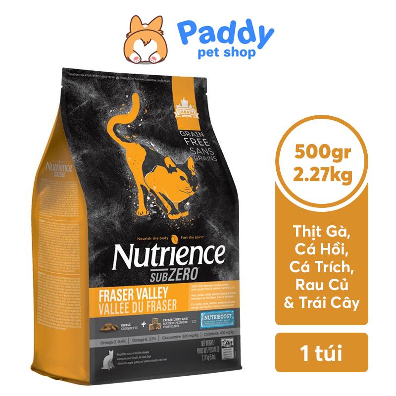 Hạt Nutrience SubZero Cho Mèo - Gà Tây, Cá Hồi, Cá Trích & Rau Củ Quả