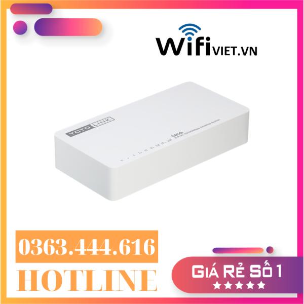 Giá [Hàng chính hãng - Giá ưu đãi] Totolink S808 – Switch 8 Cổng 10/100Mbps | Tư Vấn & Lắp Đặt Bởi WifiViet.VN