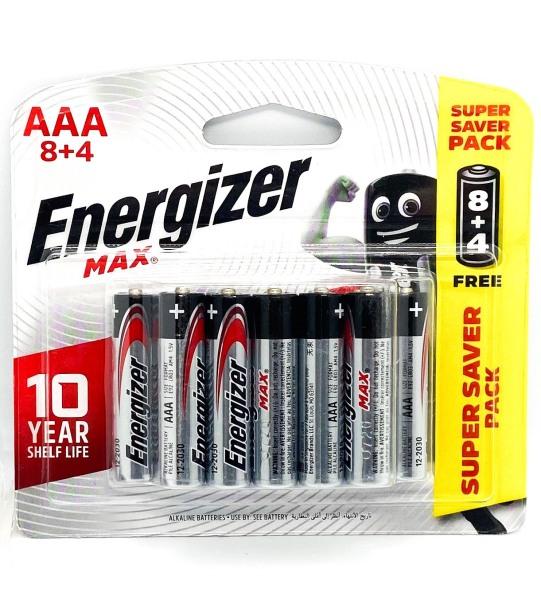 Vỉ 12 Viên Pin AAA 1,5V Energizer - Hàng Chính Hãng