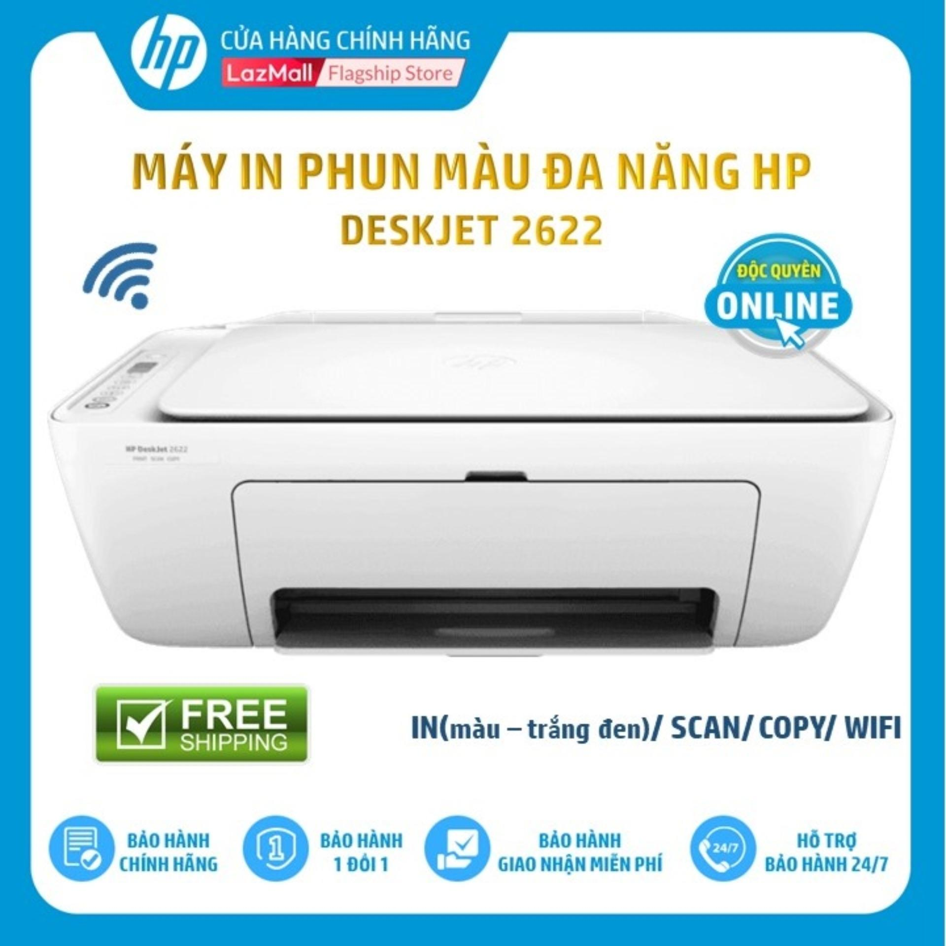 Giá Máy In Phun Màu Đa Năng HP DESKJET AiO 2622 (Wifi/In/Copy/Scan/Trắng-Y5H67A) - Hàng Chính Hãng