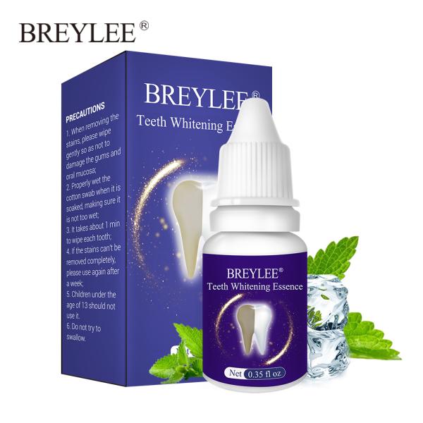 BREYLEE Serum làm trắng răng Loại bỏ vết bẩn mảng bám hiệu quả Hơi thở tồi tệ Chăm sóc răng miệng giá rẻ