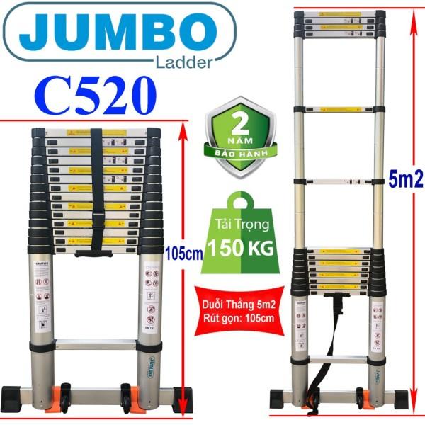 Thang Nhôm Rút Đơn Cao Cấp Jumbo C520 - 5,2M
