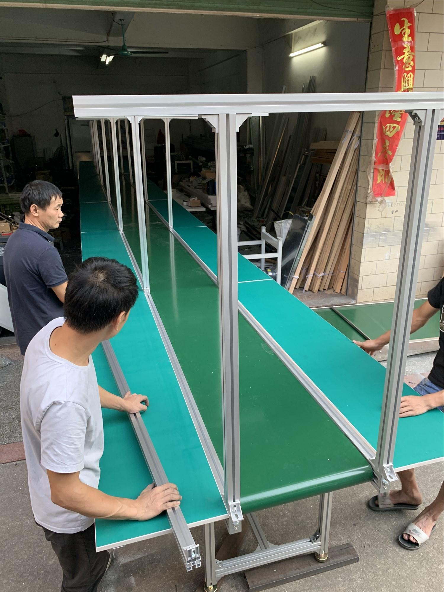 Dust-free work plant  Aluminum Working Tables Assembly Line Belt Conveyor PVC conveyor belt production line