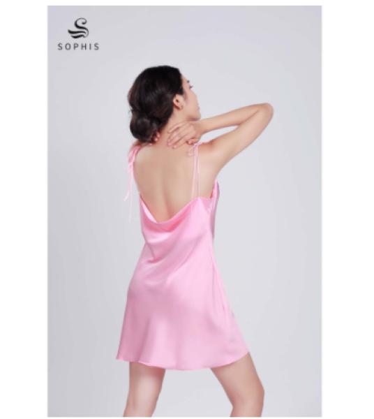 Nơi bán [Hàng thiết kế] Váy lụa cổ đổ lưng đổ, váy ngủ nữ thiết kế cao cấp Sophis