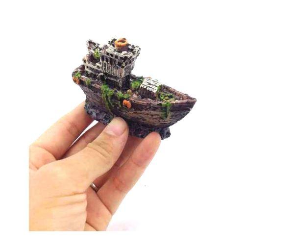 Tượng tàu đắm siêu nhỏ dành cho bể cá mini