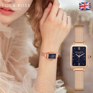 Đồng hồ nữ dây kim loại, đồng hồ Lolarose thiết kế từ Anh, mặt vuông đá bảo thạch galaxy lấp lánh huyền bí kêt hợp dây đeo kim loại tôn lên vẻ đẹp sang trọng bảo hành 2 năm LR4138 thumbnail