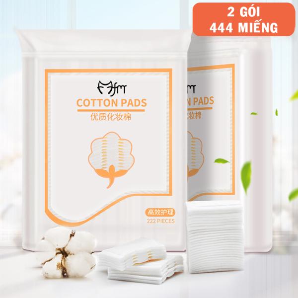 Bộ 2 gói bông tẩy trang Magic Lady 222 miếng/gói - 100% cotton không xơ bông, thấm hút dung dịch dễ dàng, thân thiện với làn da - Phụ kiện trang điểm Lamdepdeal nhập khẩu