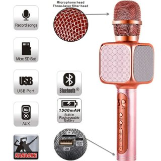 Micro không dây bluetooth đa năng YS 69, kiêm loa micro karaoke blutooth YS-69 hát karaoke kiêm loa bletooth thumbnail