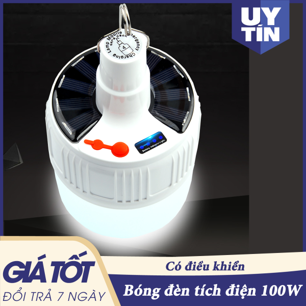 Bóng đèn tích điện, bóng đèn tích điện có điều khiển từ xa, SL-24, bóng đèn led sạc tích điện, bóng điện, đèn tích điện, den tich dien ( LOẠI TO) -  100 W - 1 ĐỔI 1 TRONG 7 NGÀY