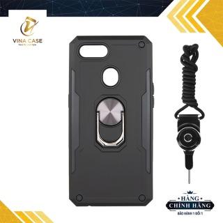 [HCM]Ốp lưng OPPO A5S F9 A7 2018 siêu chống sốc có giá đỡ nhẫn - Tặng kèm dây đeo điện thoại (sản phẩm có 3 màu) thumbnail