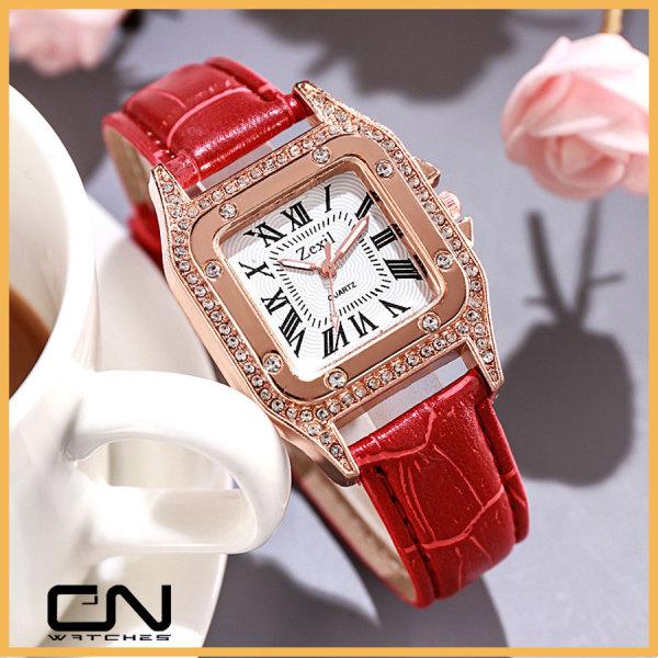 Đồng hồ dây da nữ ZEXIL DZG chính hãng dây da thời trang Hàn Quốc giá rẻ chống nước
