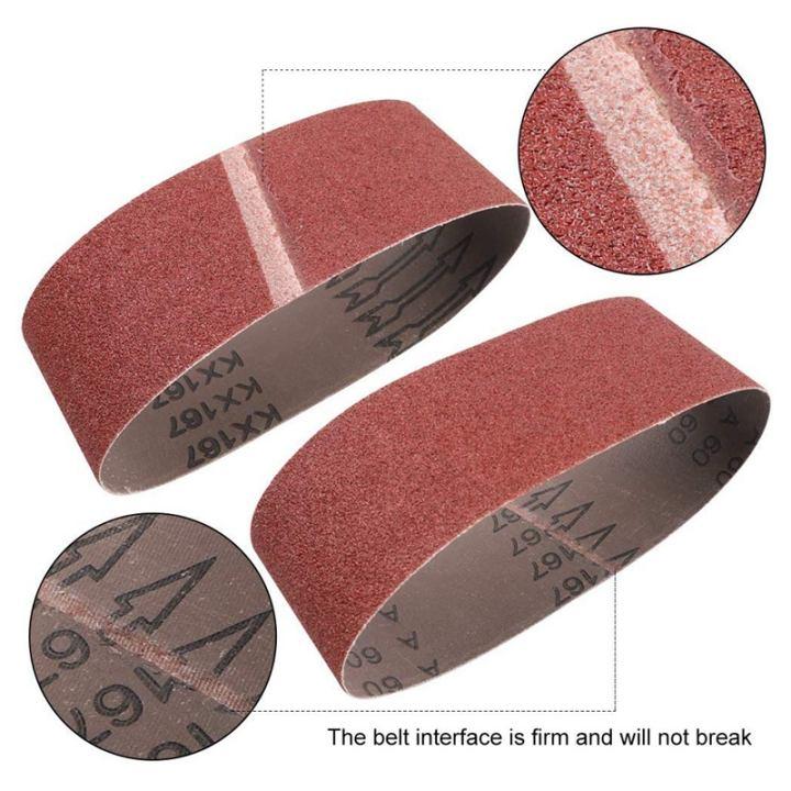 3x18 Inches Sanding Belt for Belt Sander 3 Each of 40 60 80 120 180 240 320 Grits 21 Pack Aluminum Oxide Sanding Belts