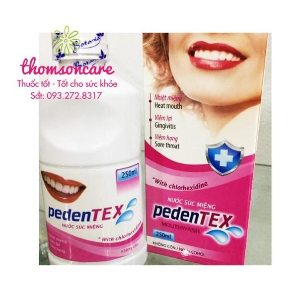 Nước súc miệng Pedentex, giảm viêm lợi, hơi thở thơm tho chính hãng giá rẻ