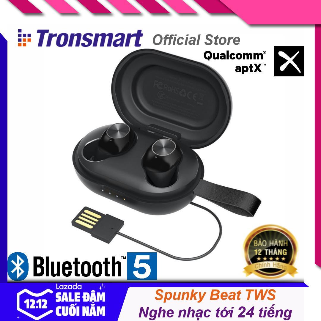 Tai nghe Bluetooth không dây 5.0 chống nước IPX5 tích hợp công nghệ hủy tiếng ồn cao cấp dùng cho điện thoại máy tính bảng Tronsmart Spunky Beat TM-365824 - Hãng phân phối chính thức
