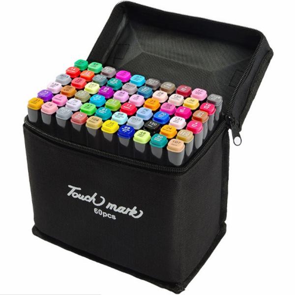 Mua (Tặng kèm 5 món) Bộ bút màu vẽ TouchMark 60, 80 màu , mỹ thuật chuyên nghiệp, hàng cao cấp chuẩn loại 1
