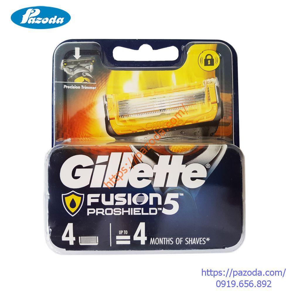 Hộp 4 lưỡi dao cạo râu Gillette Fusion Proshield tốt nhất