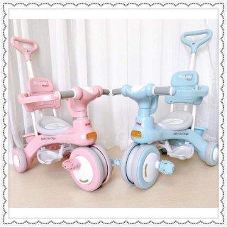 Xe cần đẩy cho bé, Xe đẩy em bé, Xe đẩy 688, Xe đập đẩy ba bánh cho bé có nhạc và đèn, Xe đẩy du lịch thumbnail