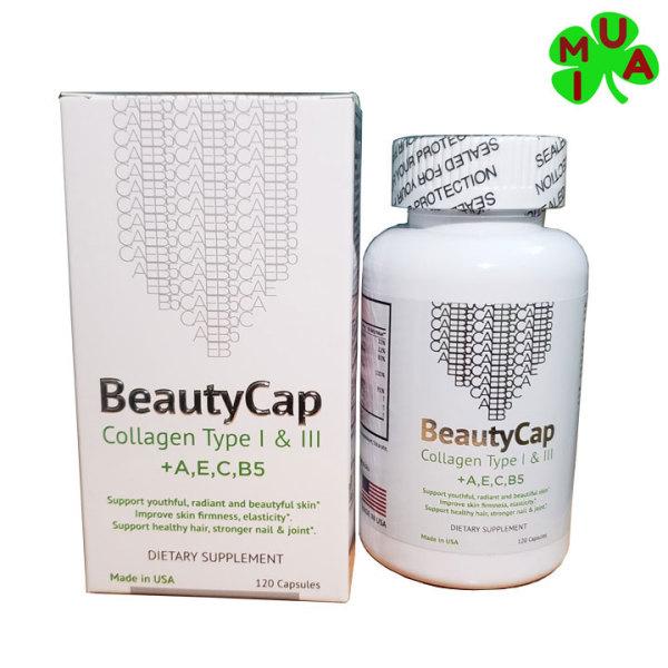 Viên uống collagen A E C B5 đẹp da của Mỹ Beauty Cap