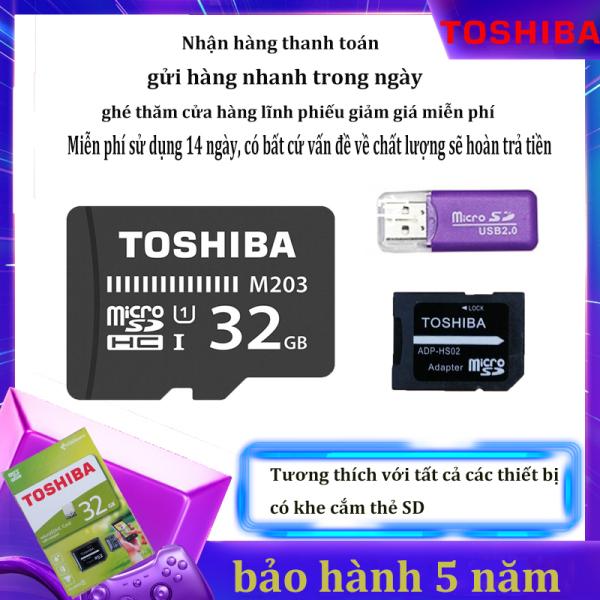 [Giảm giá / triết khấu 12% ] Thẻ nhớ Micro SD XC Toshiba M102 UHS-I U1 32GB 100MB/s (Đen) qùa tặng  kèm Adapter
