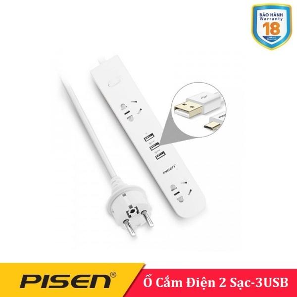 Ổ cắm điện Pisen KY-23 EP  ( 2 AC , 3USB ) -BH 18 Tháng