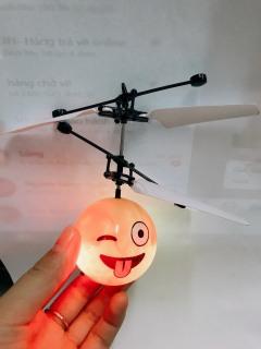 Đồ chơi máy bay hình mặt cười cảm ứng bằng tay có đèn led đẹp thumbnail