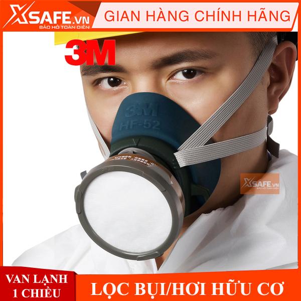 Bộ mặt nạ phòng độc 3M HF52 4 món - Mặt nạ chống độc chống bụi - Mặt nạ phun sơn phun xịt hóa chất