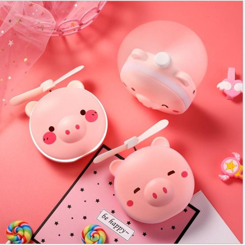 - Quạt mini cầm tay có gương và đèn led trang điểm hình thú nhiều mẫu siêu dễ thương - thế giới sỉ lẻ 4