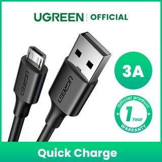 Cáp Sạc UGREEN Micro USB Sạc Nhanh QC3.0 Dành cho HUAWEI y7 prime 2019 OPPO a5s Samsung J7 pro thumbnail