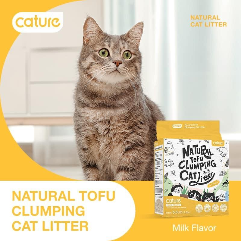 Cát đậu nành tofu cát vệ sinh cho mèo Natural hương sữa, được làm bằng nguyên liệu tự nhiên, có thể tự phân hủy, không gây hại môi trường