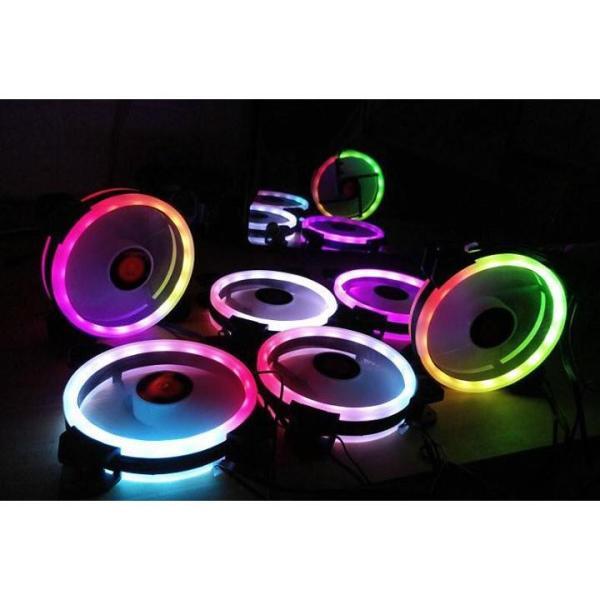 Bảng giá Bộ 5 fan 12cm Coolmon RGB Led Ring tặng remote và hub và vít kèm theo 3hcomputer Phong Vũ
