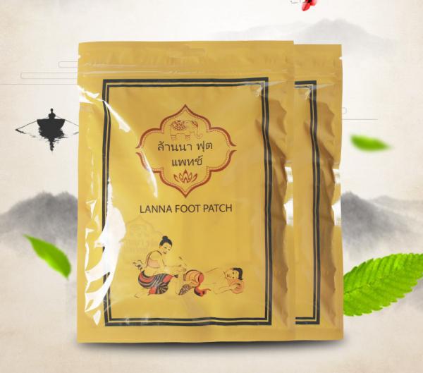 Miếng dán chân - Miếng dán thải độc chân của thái lan - Miếng dán thải độc chân Lanna food Thái lan