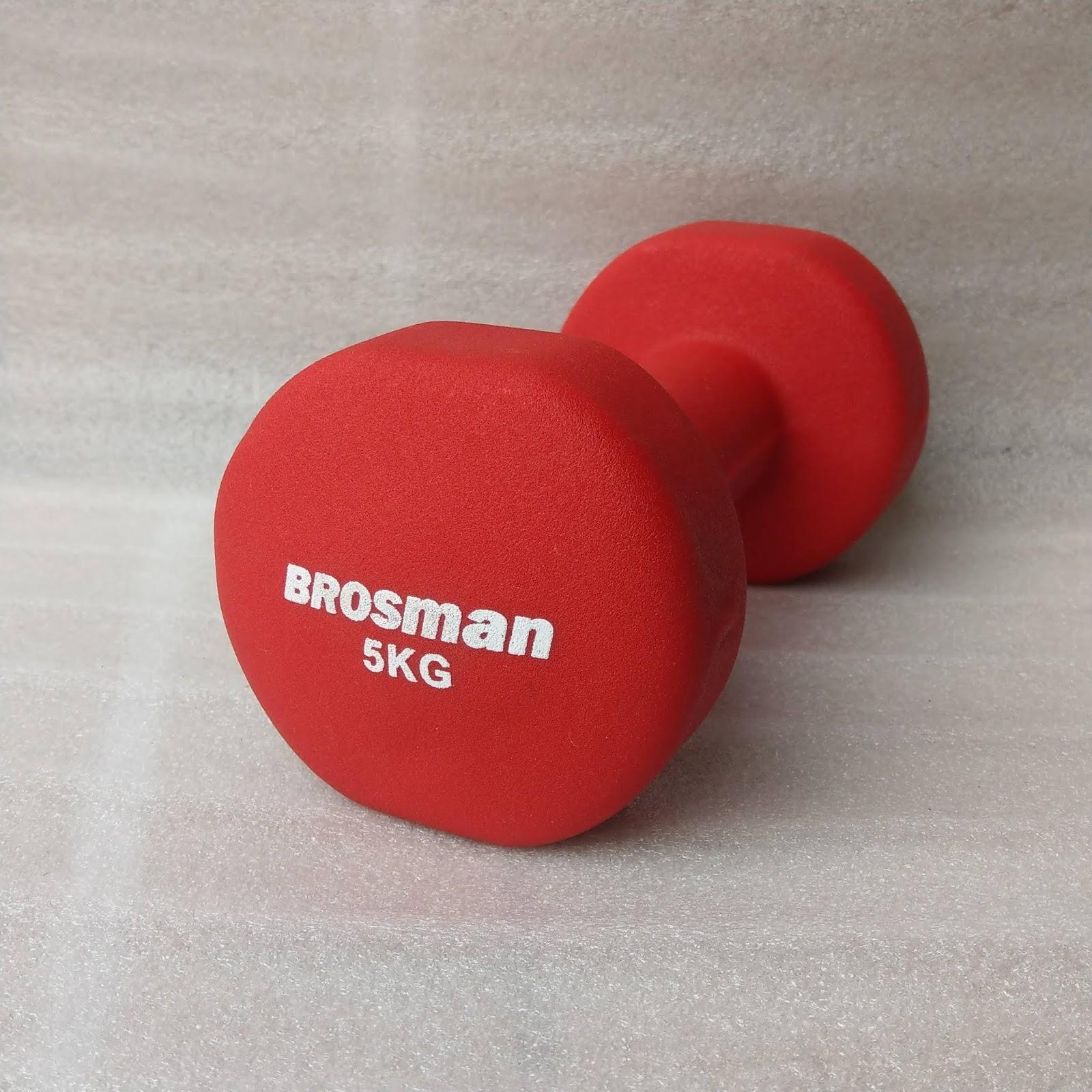 Tạ Tay Brosman 5 Kg (Đỏ) Cùng Khuyến Mại Sốc