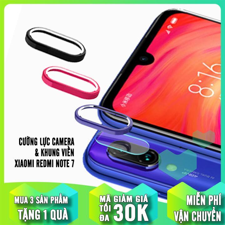 Hot Deal Khi Mua [3 MÀU] Bộ Bảo Vệ Camera Cho Xiaomi Redmi Note 7 / Note 7 Pro Cường Lực CAMERA + Khung Viền Nhôm CAMERA