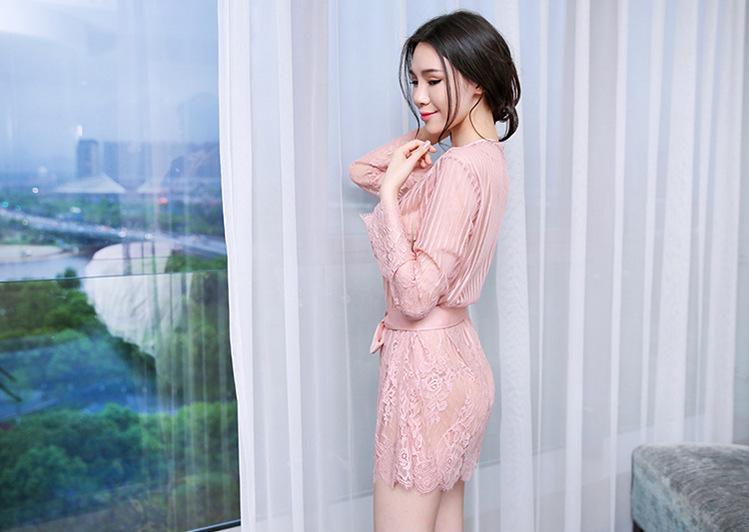 Áo choàng ngủ sexy ren kèm quần chip áo ngực 01