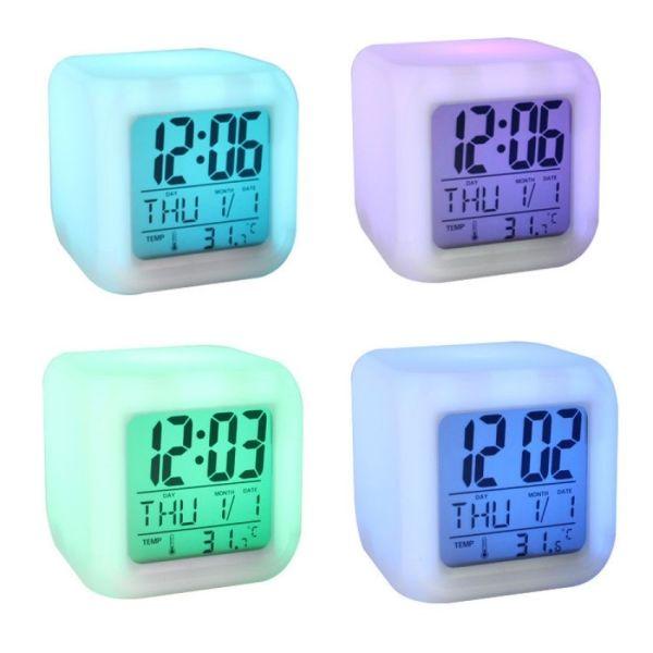 Đồng Hồ Điện Tử Để Bàn Có Đèn LED Đổi Màu Đa Chức Năng Hiện thị Ngày Tháng ,Đồng Hồ Báo Thức, Đo nhiệt Độ Rõ Nét