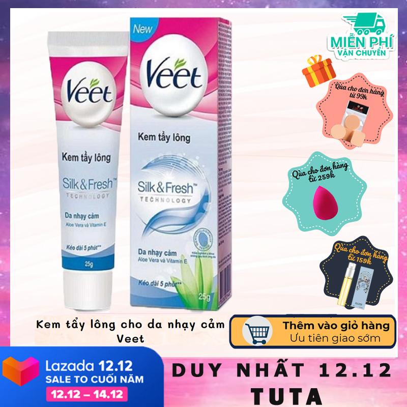 TUTA - Kem tẩy lông cho da nhạy cảm Veet hiệu quả an toàn tại nhà KTL-1 nhập khẩu