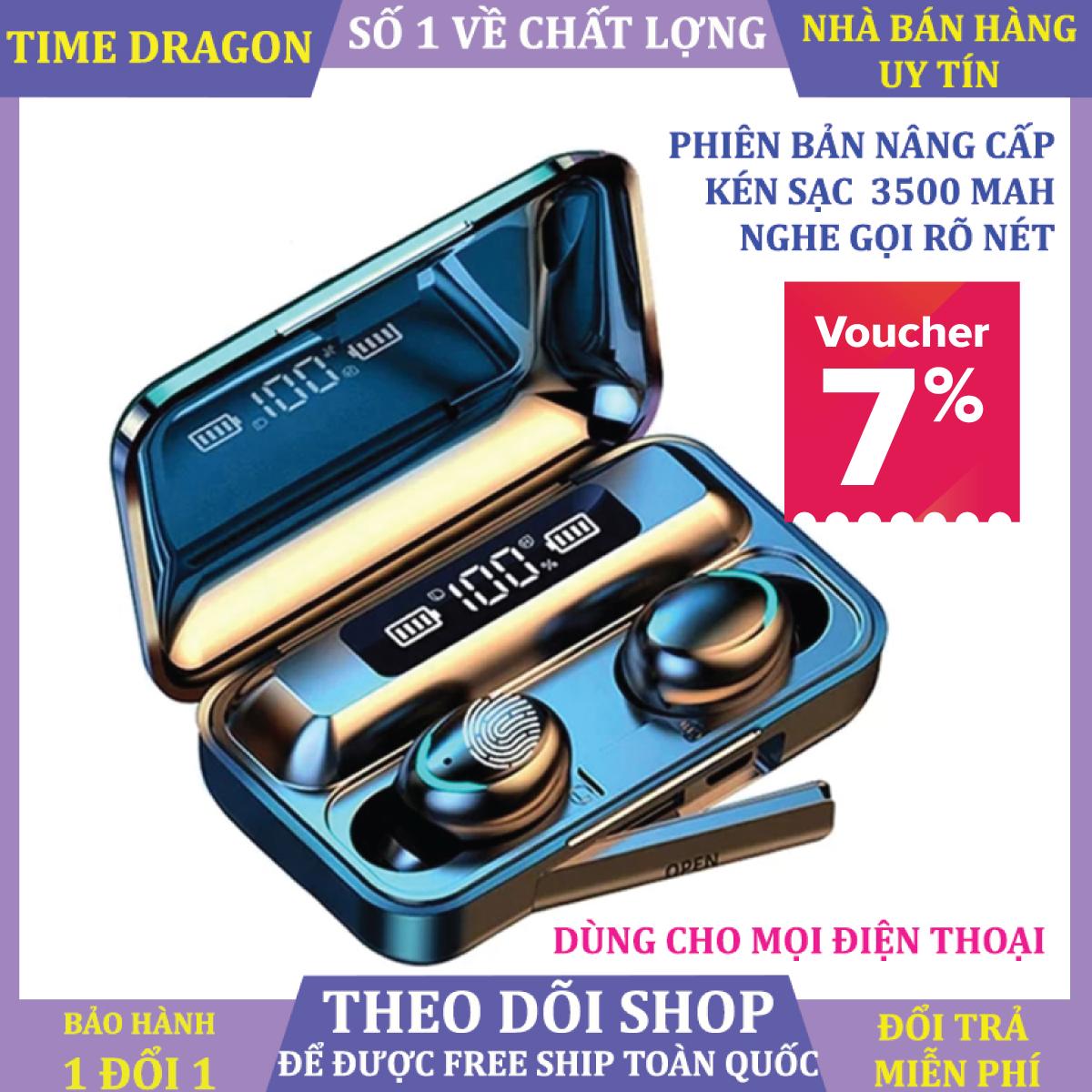 Tai Nghe Bluetooth F95 Tai Nghe Không Dây Nhét Tai Pin 3500 mAh Micro HD, Âm Tanh 9D Chống Nước, Chống ồn - Tai Nghe Bluetooth Bản Cao Cấp - Tai Nghe Nhét Tai Không Dây - Tai Nghe Dùng Cho Mọi Điện Thoại
