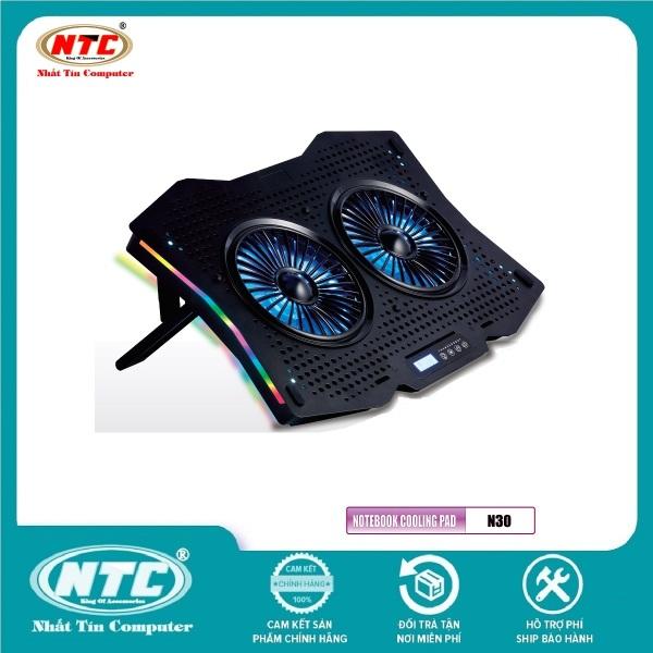 Bảng giá Đế tản nhiệt VSP COOLER N30 cho laptop từ 10 đến 18 Led RGB (Đen) - Nhất Tín Computer Phong Vũ