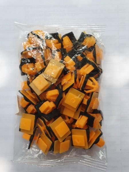 Bộ 50 đinh tán nhựa (màu vàng cam) cho cửa xe hơi -  Chốt vít nhựa cho ô tô