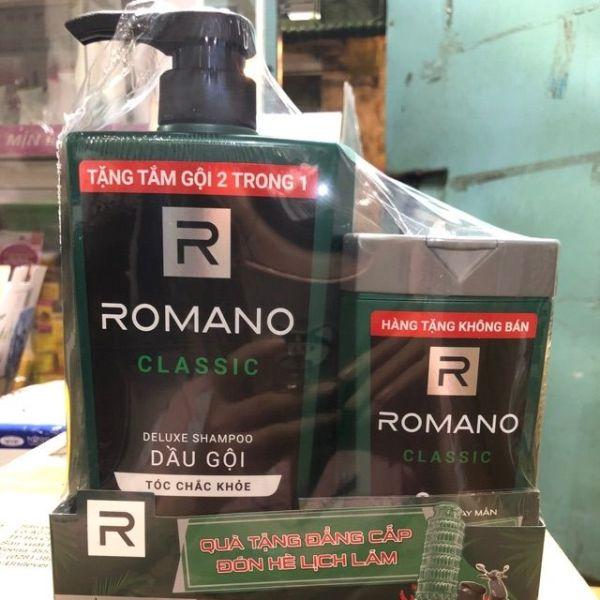 DầU GộI Romano 650G TặNg Chai TắM GộI 2In1. 150G giá rẻ