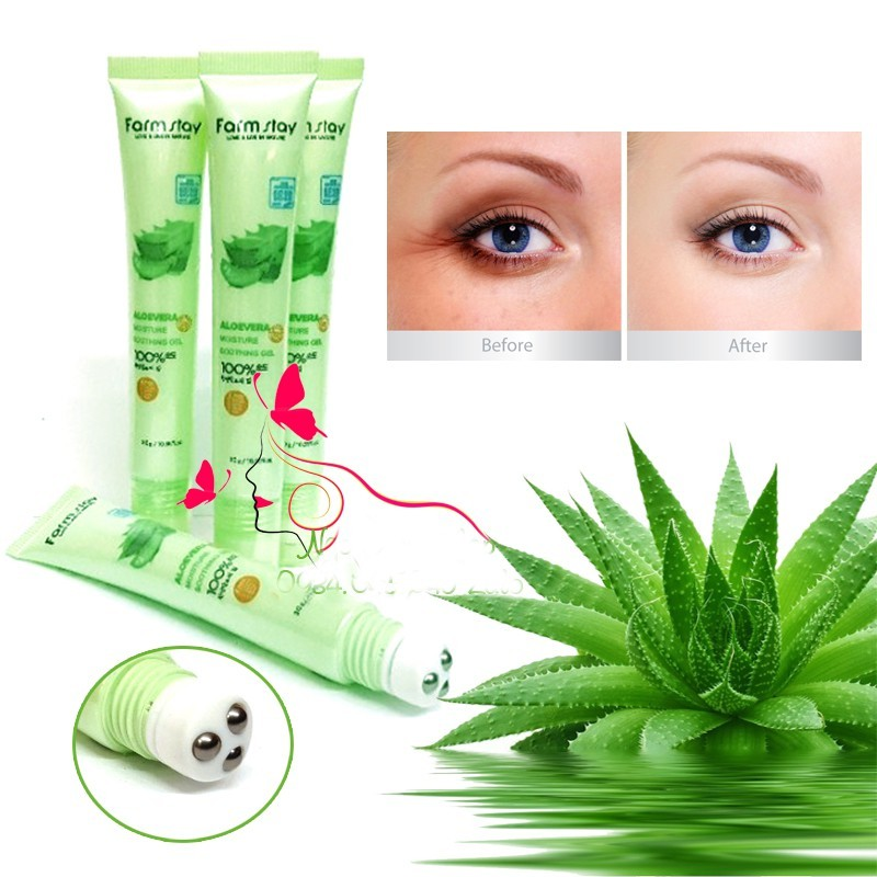 Lăn Mắt Nha đam Tri. Thâm Farmstay 100% Aloe giá rẻ